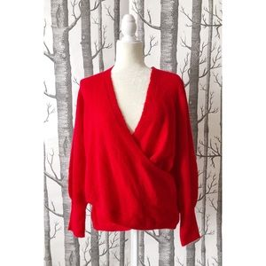 EXPRESS | Red Wrap Sweater